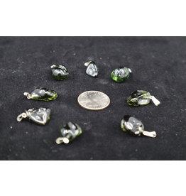 Moldavite Tumbled Pendants