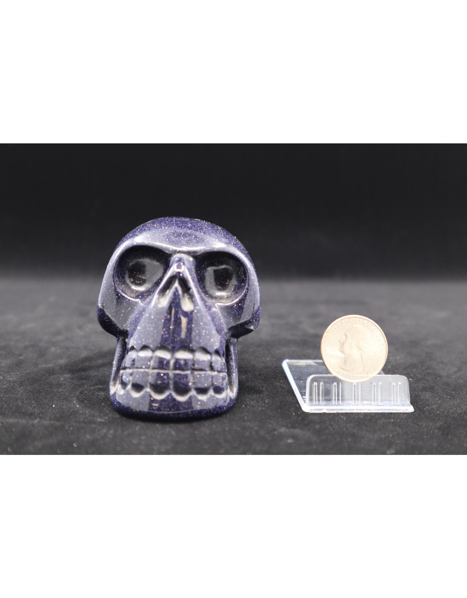 Blue Goldstone Skull