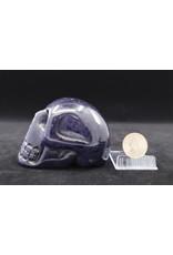 Blue Sandstone Skull