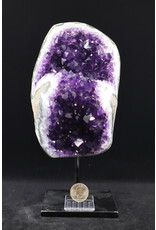 Amethyst on Metal Stand