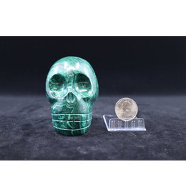 Malachite Skull - XL #1
