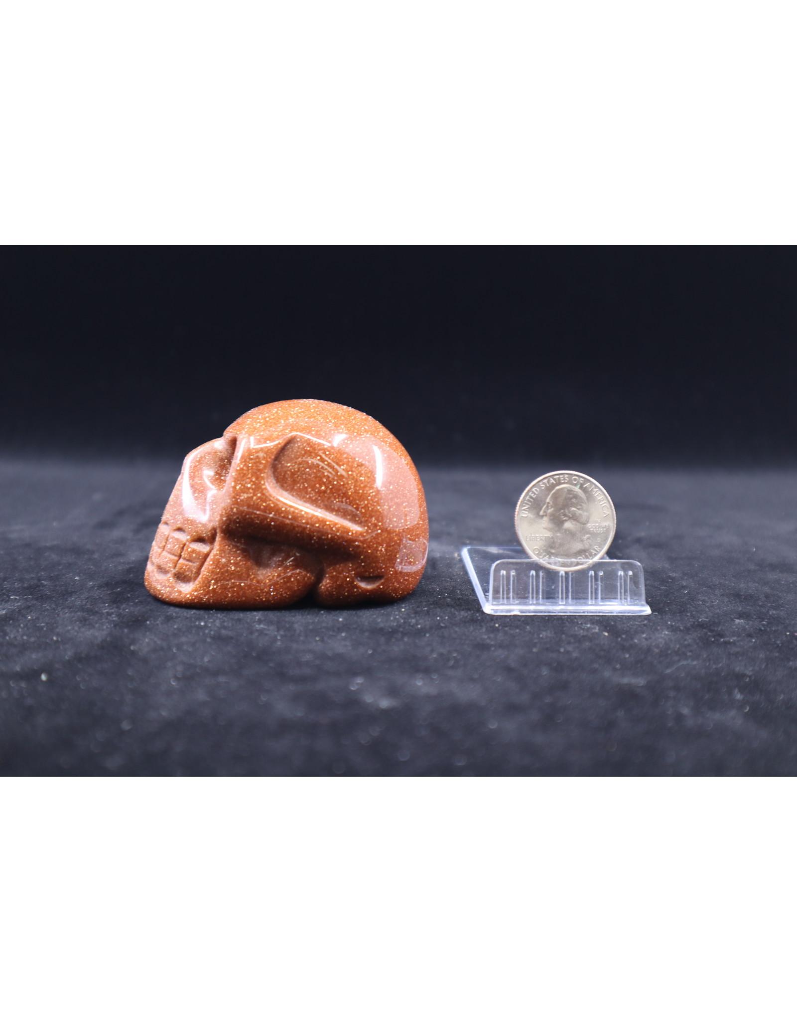 Goldstone Skull