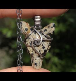 Dalmatian Jasper Wolfie Amulet