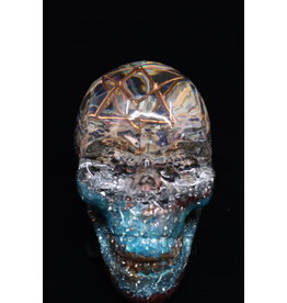 Blue/Red Orgonite Skull