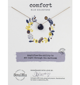 Soul-Full Necklace - Blue Goldstone