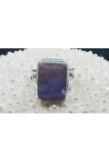 Boulder Opal Rectangle Ring - Size 7