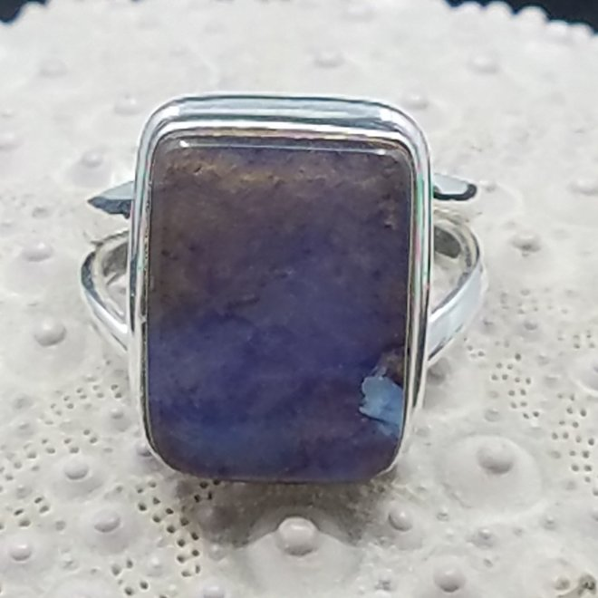 Boulder Opal Ring - Size 7 - Sterling Silver Rectangle