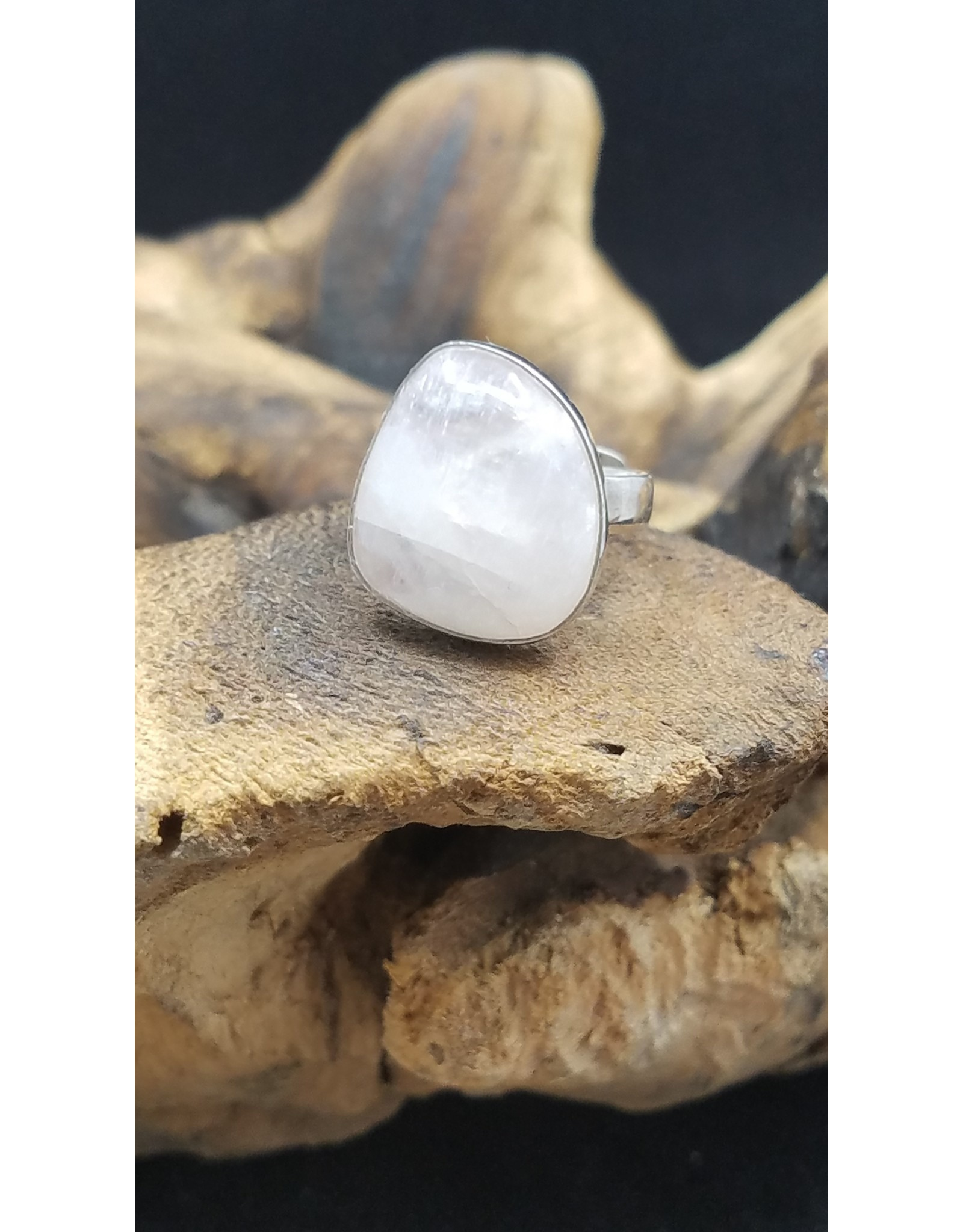 Pink Moonstone Ring - Size 7