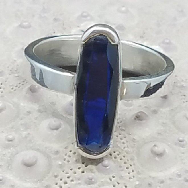 Blue Kyanite Oblong Ring - Size 6