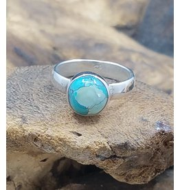 Indian Turquoise Ring - Size 6