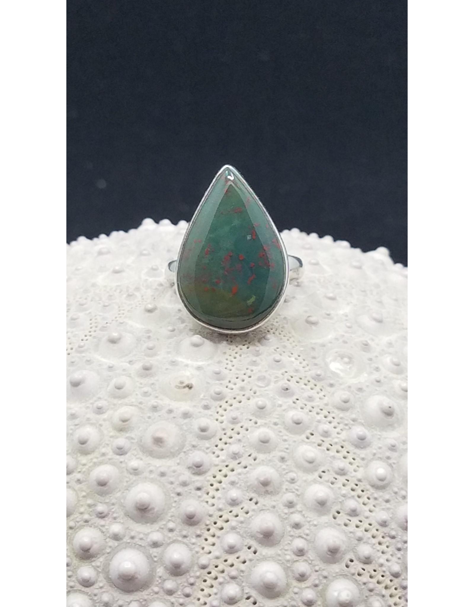 Bloodstone/Heliotrope Ring - Size 6