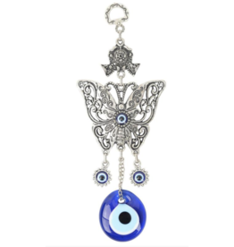 Evil Eye Butterfly Wall Hanging