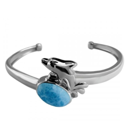 Larimar Cuff Bracelet - Adjustable
