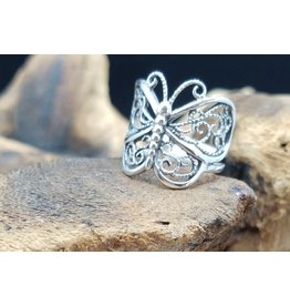 Silver Butterfly Ring - Size 6.5