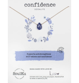 Sodalite Necklace for Confidence - SoulKu