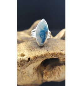 Lighting Azurite Ring - Size 6.5