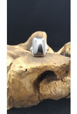 Hematite Rectangle Ring - Size 6.5