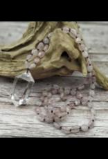 Handmade Rose Quartz with Clear Quartz Necklace