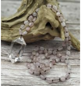 Handmade Rose Quartz with Clear Quartz Necklace