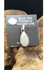 Blue Fire Rainbow Moonstone Pendant