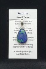 Azurite Tear Drop Pendant