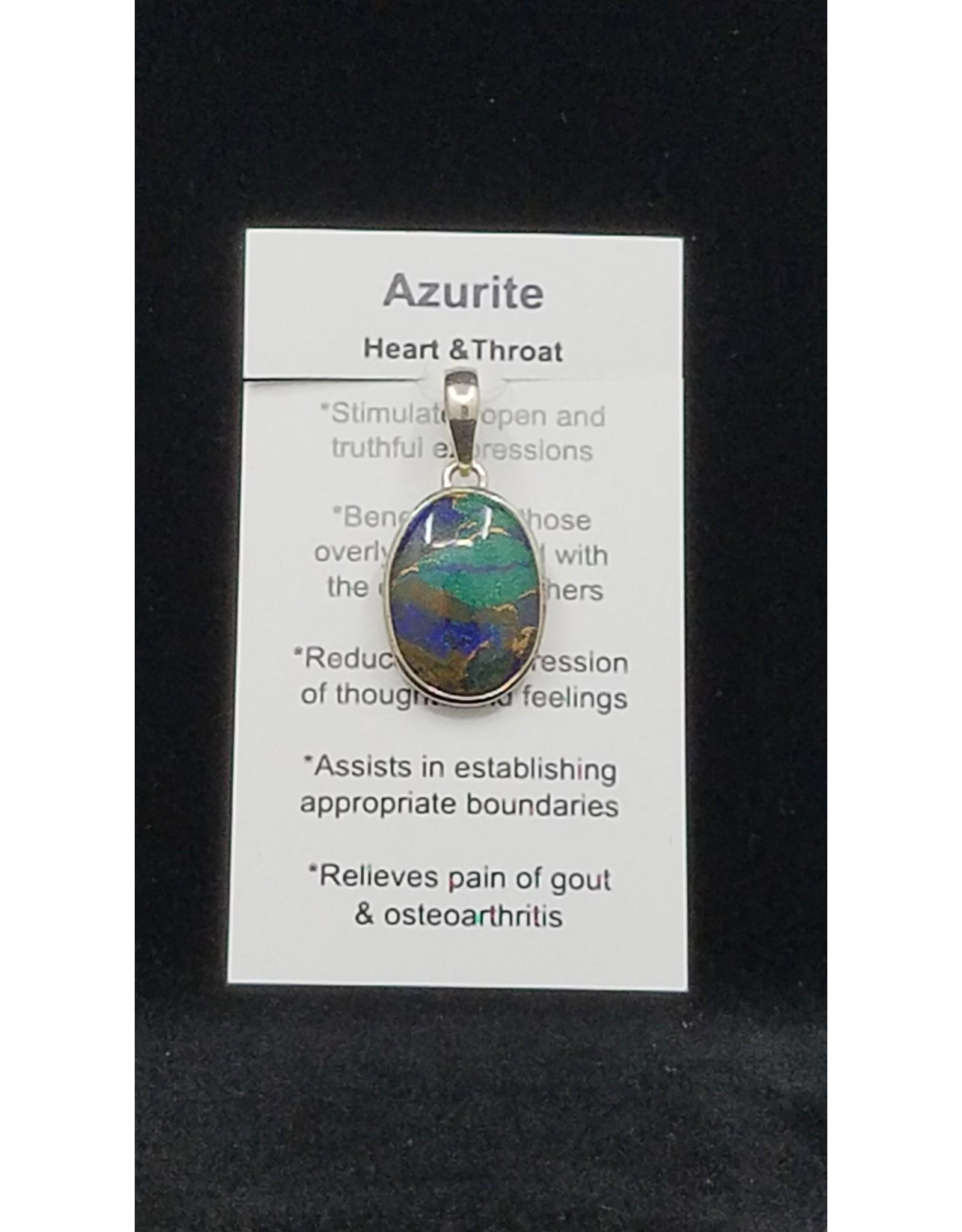 Azurite Oval Pendant