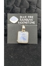 Blue Fire Rainbow Moonstone 3 Pendant