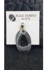 Black Banded Agate Pendant