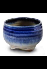 Blue Rim Ceramic Bowl Incense Stick Holder