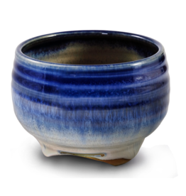 Ceramic Bowl - Blue Rim