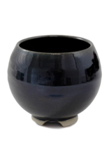 Obsidian Ceramic Bowl Incense Stick Holder