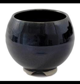 Obsidian Ceramic Bowl Incense Stick Holder