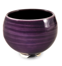 Plum Ceramic Bowl Incense Stick Holder