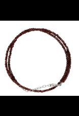 Garnet Bead Necklace