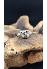 Abalone Shell Owl Ring - Size 9