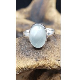 Aquamarine Oval Ring - Size 9