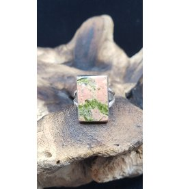 Unakite Rectangle Ring - Size 9