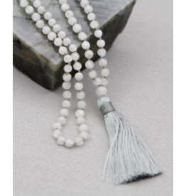 Knotted Moonstone Mala
