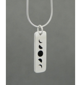 Phases of the Moon Sterling Silver Pendant
