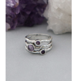 Triple Amethyst Ring - Size 9