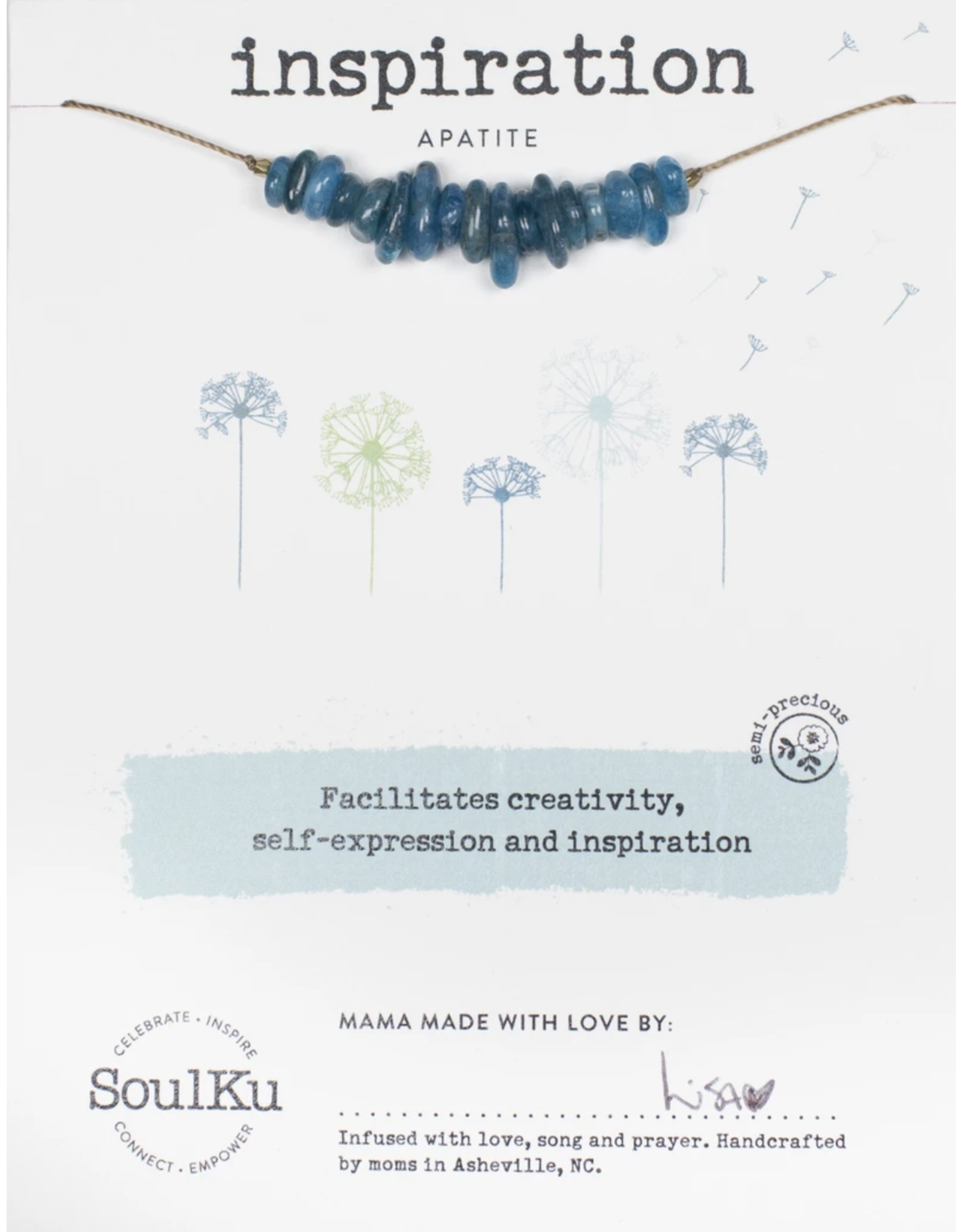 Inspiration Seed Necklace - Apatite
