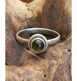Green Tourmaline Ring - Size 9