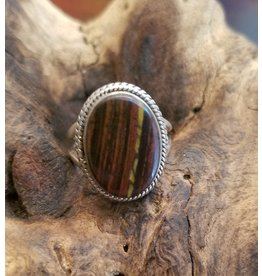 Red Tigers Eye Ring - Size 6