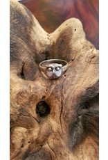 Abalone Owl Ring - Size 10