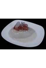 Resin Crystal Dish - Orange Sparkles