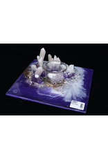 Resin Crystal Candle Plate #17