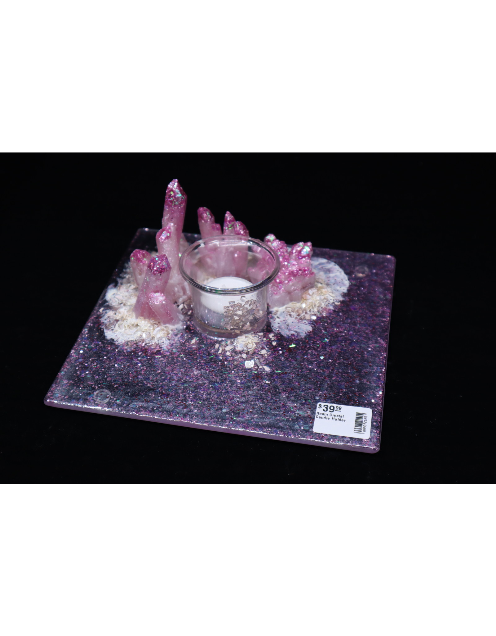 Resin Crystal Candle Plate #14