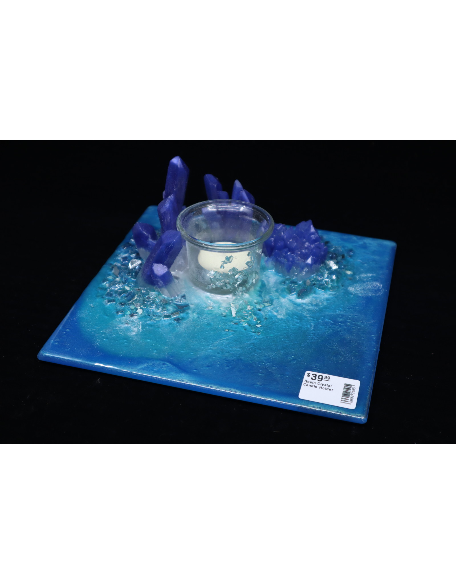 Resin Crystal Candle Plate #12