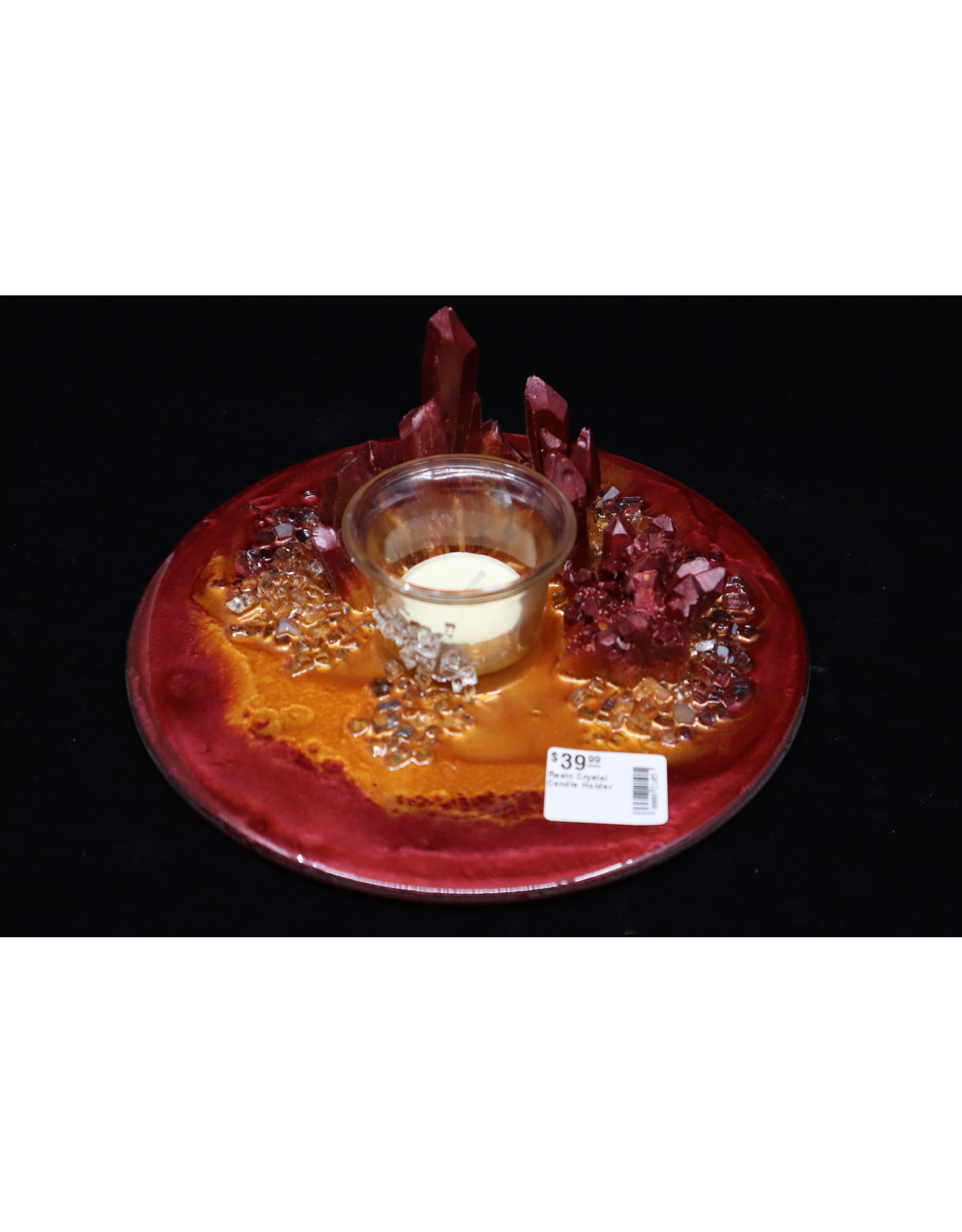Resin Crystal Candle Plate #7