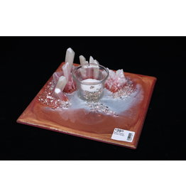 Resin Crystal Candle Plate #6